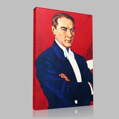 Renkli Atatürk Resimleri 29 Kanvas Tablo