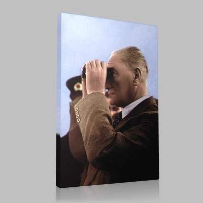Renkli Atatürk Resimleri 290 Kanvas Tablo