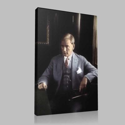 Renkli Atatürk Resimleri 293 Kanvas Tablo