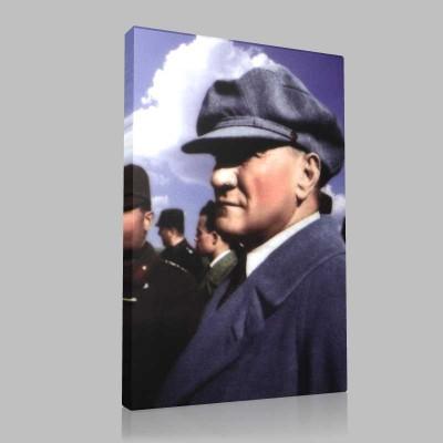 Renkli Atatürk Resimleri 295 Kanvas Tablo