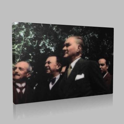 Renkli Atatürk Resimleri 296 Kanvas Tablo