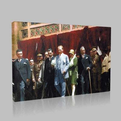 Renkli Atatürk Resimleri 297 Kanvas Tablo