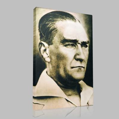 Renkli Atatürk Resimleri 30 Kanvas Tablo
