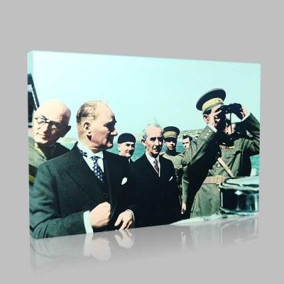 Renkli Atatürk Resimleri 302 Kanvas Tablo