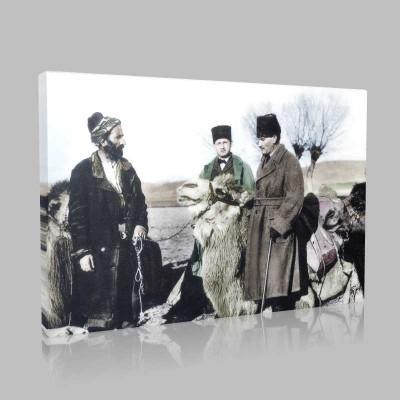 Renkli Atatürk Resimleri 303 Kanvas Tablo