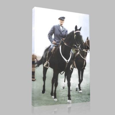 Renkli Atatürk Resimleri 304 Kanvas Tablo