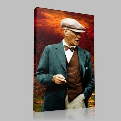 Renkli Atatürk Resimleri 305 Kanvas Tablo