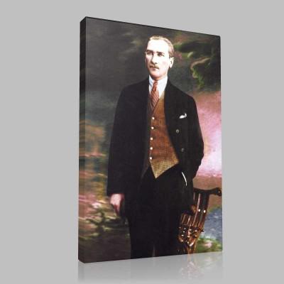 Renkli Atatürk Resimleri 306 Kanvas Tablo