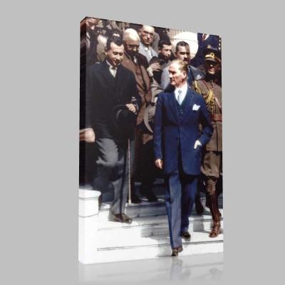 Renkli Atatürk Resimleri 307 Kanvas Tablo