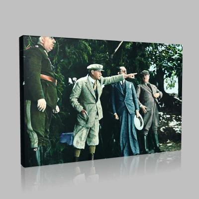 Renkli Atatürk Resimleri 309 Kanvas Tablo