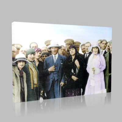 Renkli Atatürk Resimleri 314 Kanvas Tablo