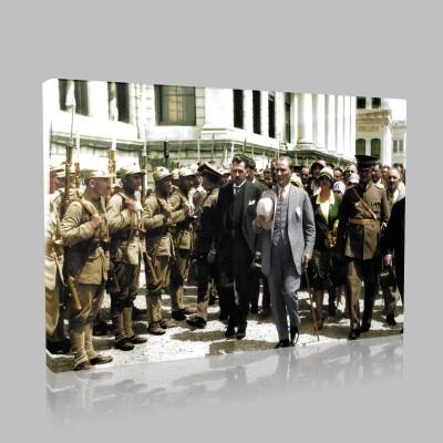 Renkli Atatürk Resimleri 316 Kanvas Tablo