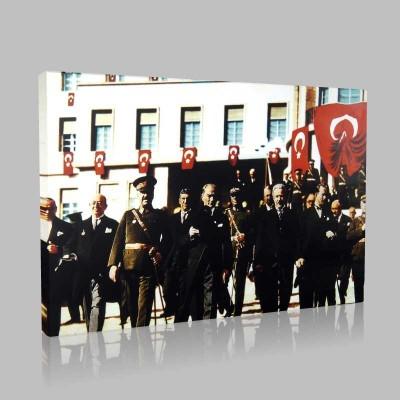 Renkli Atatürk Resimleri 317 Kanvas Tablo