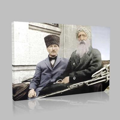 Renkli Atatürk Resimleri 319 Kanvas Tablo