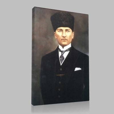 Renkli Atatürk Resimleri 32 Kanvas Tablo