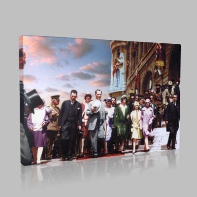 Renkli Atatürk Resimleri 320 Kanvas Tablo