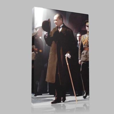 Renkli Atatürk Resimleri 321 Kanvas Tablo