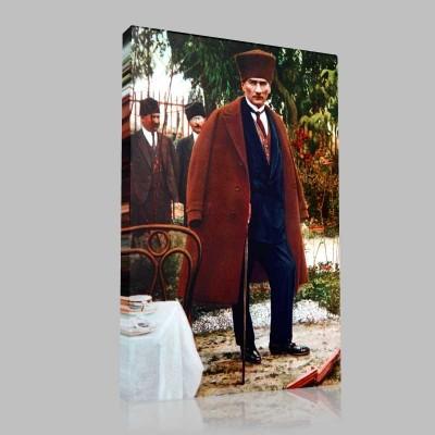 Renkli Atatürk Resimleri 322 Kanvas Tablo