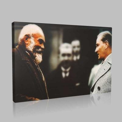 Renkli Atatürk Resimleri 323 Kanvas Tablo