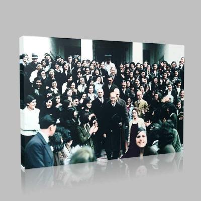 Renkli Atatürk Resimleri 325 Kanvas Tablo