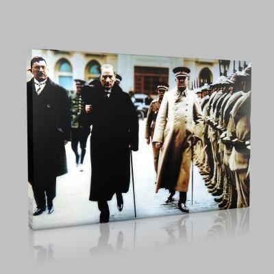 Renkli Atatürk Resimleri 327 Kanvas Tablo