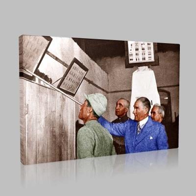 Renkli Atatürk Resimleri 328 Kanvas Tablo