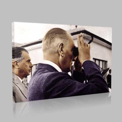 Renkli Atatürk Resimleri 329 Kanvas Tablo