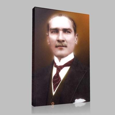 Renkli Atatürk Resimleri 33 Kanvas Tablo