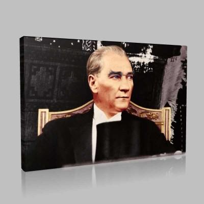 Renkli Atatürk Resimleri 330 Kanvas Tablo