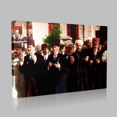 Renkli Atatürk Resimleri 331 Kanvas Tablo
