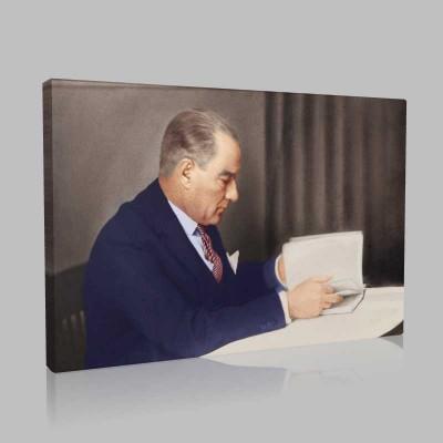 Renkli Atatürk Resimleri 333 Kanvas Tablo