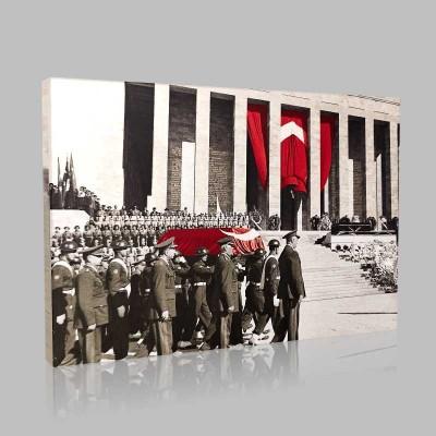 Renkli Atatürk Resimleri 334 Kanvas Tablo