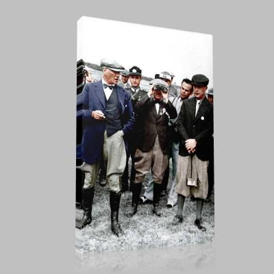 Renkli Atatürk Resimleri 337 Kanvas Tablo