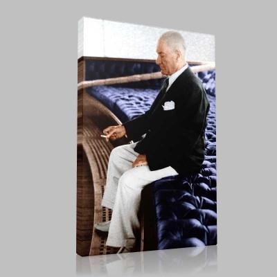 Renkli Atatürk Resimleri 338 Kanvas Tablo