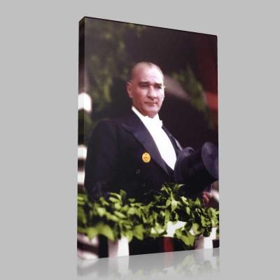 Renkli Atatürk Resimleri 339 Kanvas Tablo