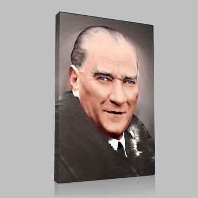 Renkli Atatürk Resimleri 34 Kanvas Tablo