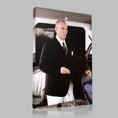 Renkli Atatürk Resimleri 341 Kanvas Tablo