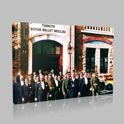 Renkli Atatürk Resimleri 342 Kanvas Tablo