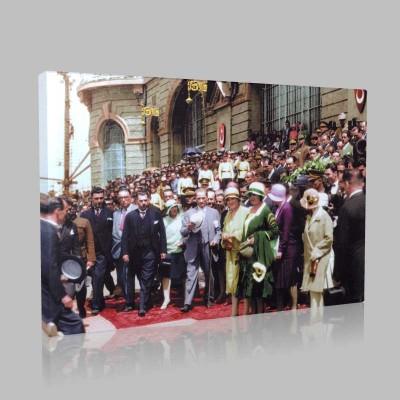 Renkli Atatürk Resimleri 343 Kanvas Tablo