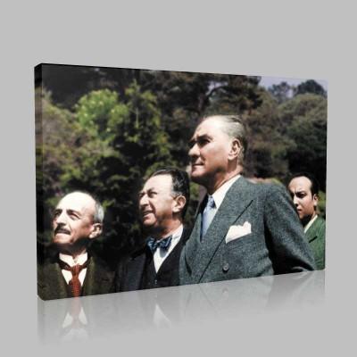 Renkli Atatürk Resimleri 345 Kanvas Tablo
