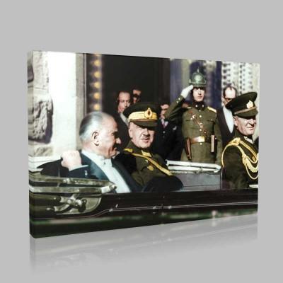 Renkli Atatürk Resimleri 346 Kanvas Tablo