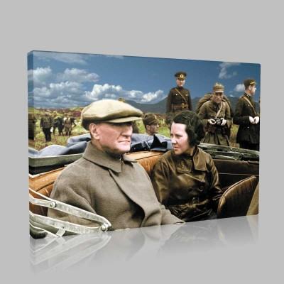 Renkli Atatürk Resimleri 347 Kanvas Tablo