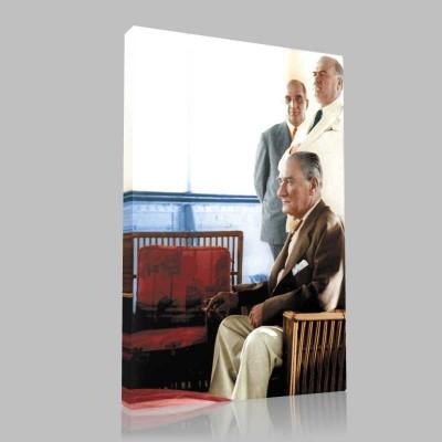 Renkli Atatürk Resimleri 349 Kanvas Tablo
