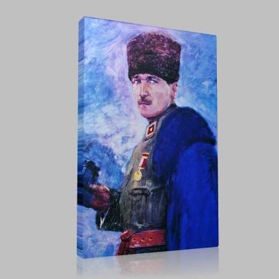Renkli Atatürk Resimleri 35 Kanvas Tablo