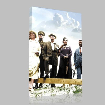 Renkli Atatürk Resimleri 351 Kanvas Tablo