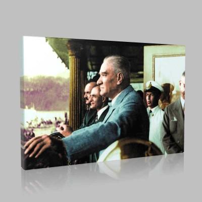 Renkli Atatürk Resimleri 352 Kanvas Tablo