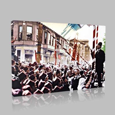 Renkli Atatürk Resimleri 354 Kanvas Tablo