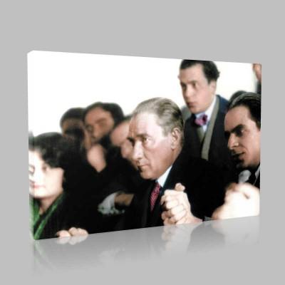 Renkli Atatürk Resimleri 355 Kanvas Tablo
