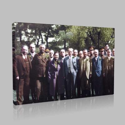 Renkli Atatürk Resimleri 356 Kanvas Tablo