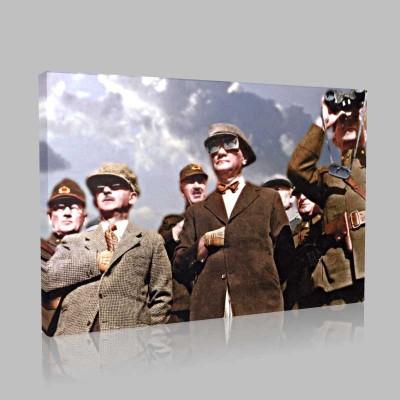 Renkli Atatürk Resimleri 357 Kanvas Tablo